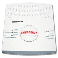 Wireless Base Station for a home based medial emergency alert system. MediGuardUSA, Omaha, NE